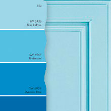 As You Like It Custom Color Sample Door And Blue Paint