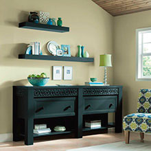 Decora Custom Color Cabinets In Sitting Room
