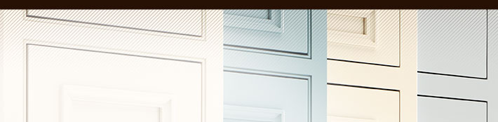 Banner image with close-up of inset cabinet doors in various paint colors