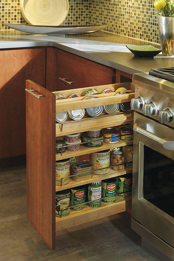 kitchen cabinet spice rack pull out base spice pull out cabinet decora cabinetry 19614