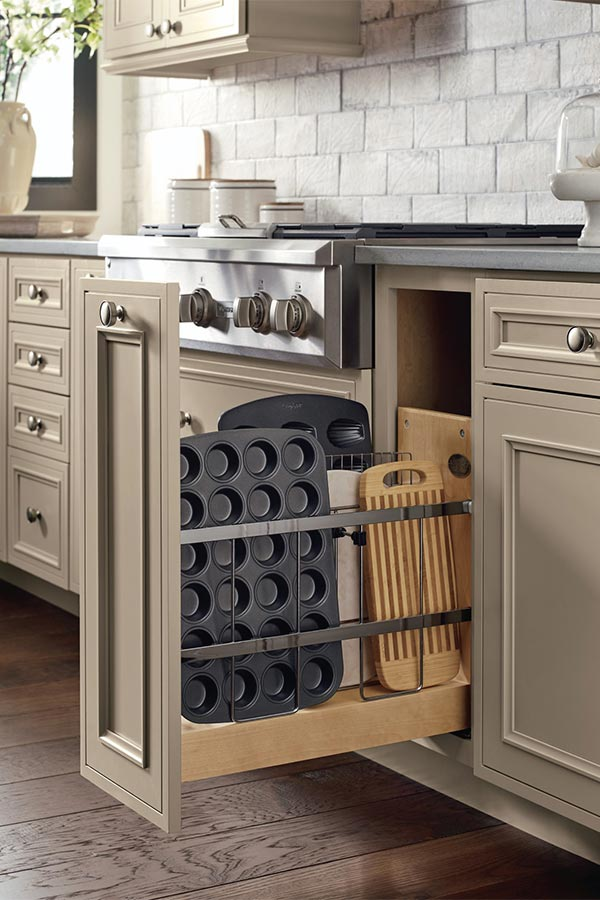 Base Tray Divider Pantry Pullout Cabinet