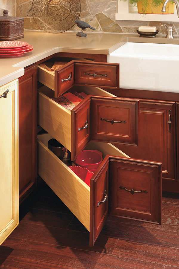 corner kitchen cabinet drawers corner drawer cabinet decora cabinetry 13951
