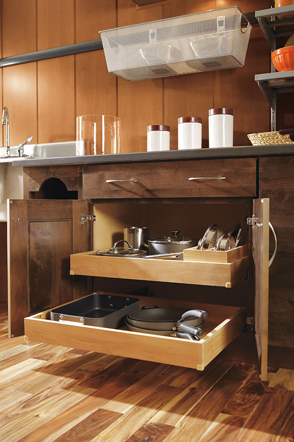 Roll Tray Base Cabinet With Lid Organizer