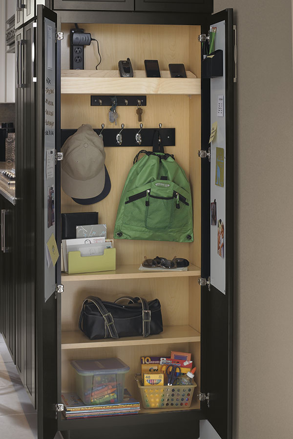 Utility Cabinet with Drop Zone - Decora Cabinetry