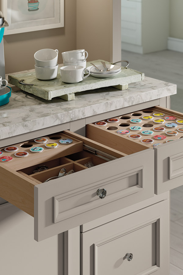 K Cup Storage Drawer Decora Cabinetry