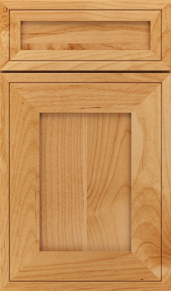 Airedale 5-Piece Alder Shaker Style Cabinet Door in Natural