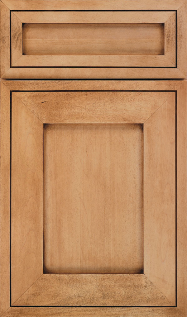 Airedale 5-Piece Maple Shaker Style Cabinet Door in Natural with Coffee glaze