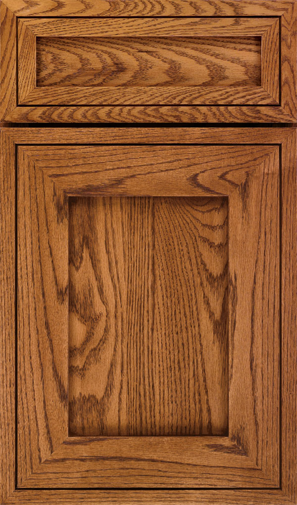 Airedale 5-Piece Oak Shaker Style Cabinet Door in Suede