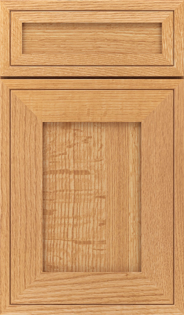 Airedale 5 Piece Quartersawn Oak Shaker Style Cabinet Door In Natural