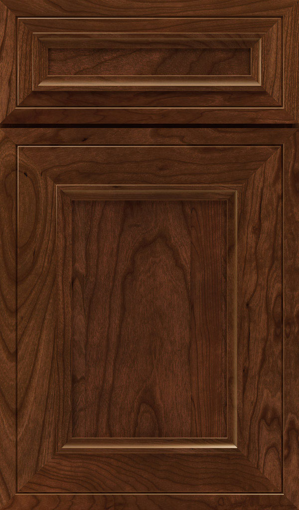 Altmann 5-piece Cherry recessed panel cabinet door in Arlington with Espresso glaze