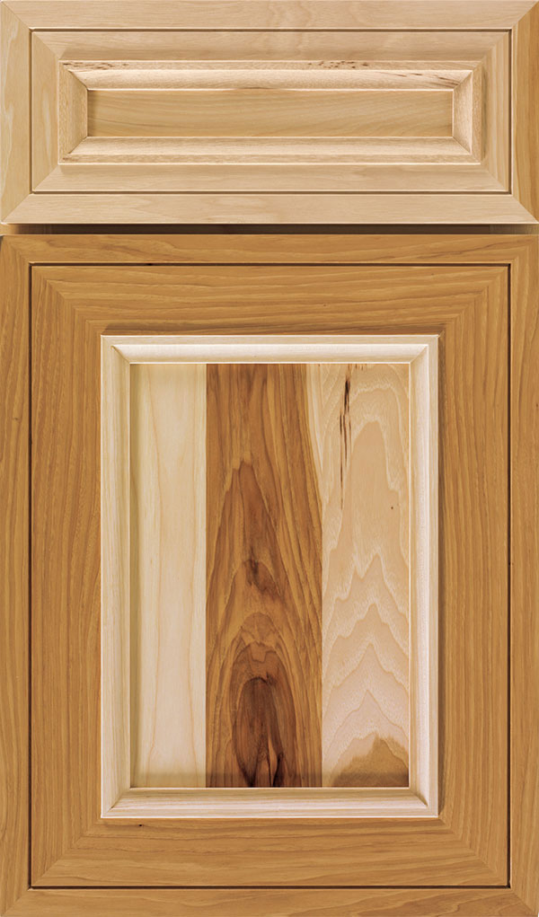 Altmann 5-piece Hickory recessed panel cabinet door in Natural