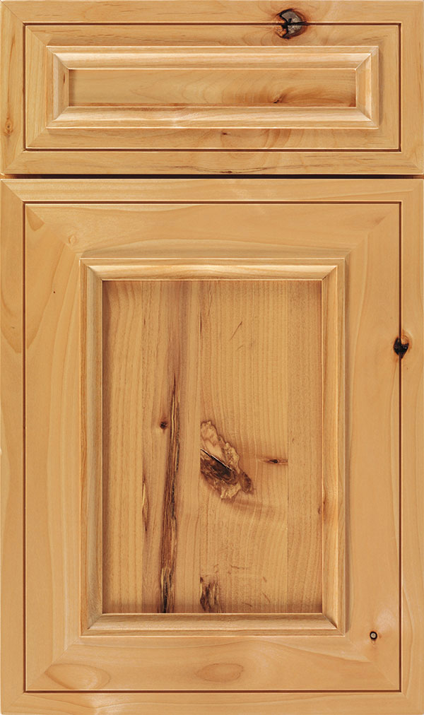 Altmann 5-piece Rustic Alder recessed panel cabinet door in Natural