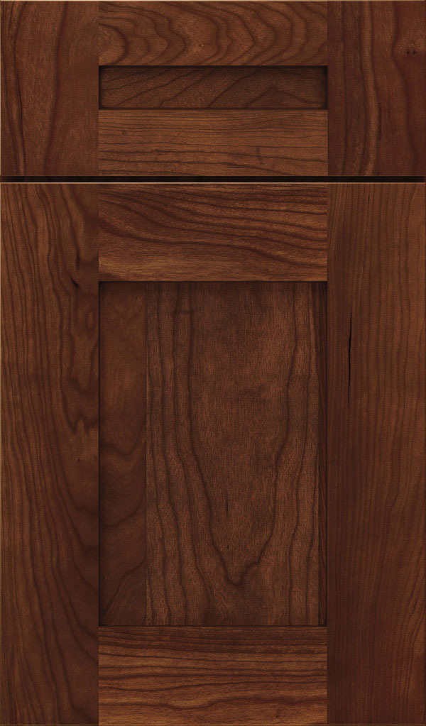 Artisan 5-piece Cherry shaker cabinet door in Arlington Espresso