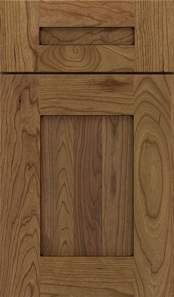Artisan 5-piece Cherry shaker cabinet door in Corriander Espresso