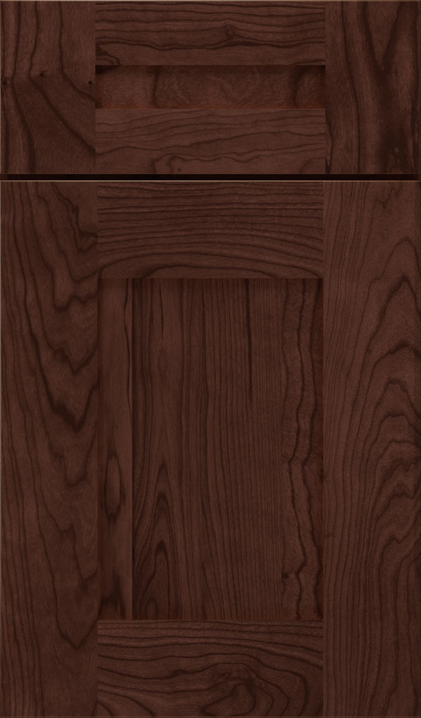 Artisan 5-piece Cherry shaker cabinet door in Malbec