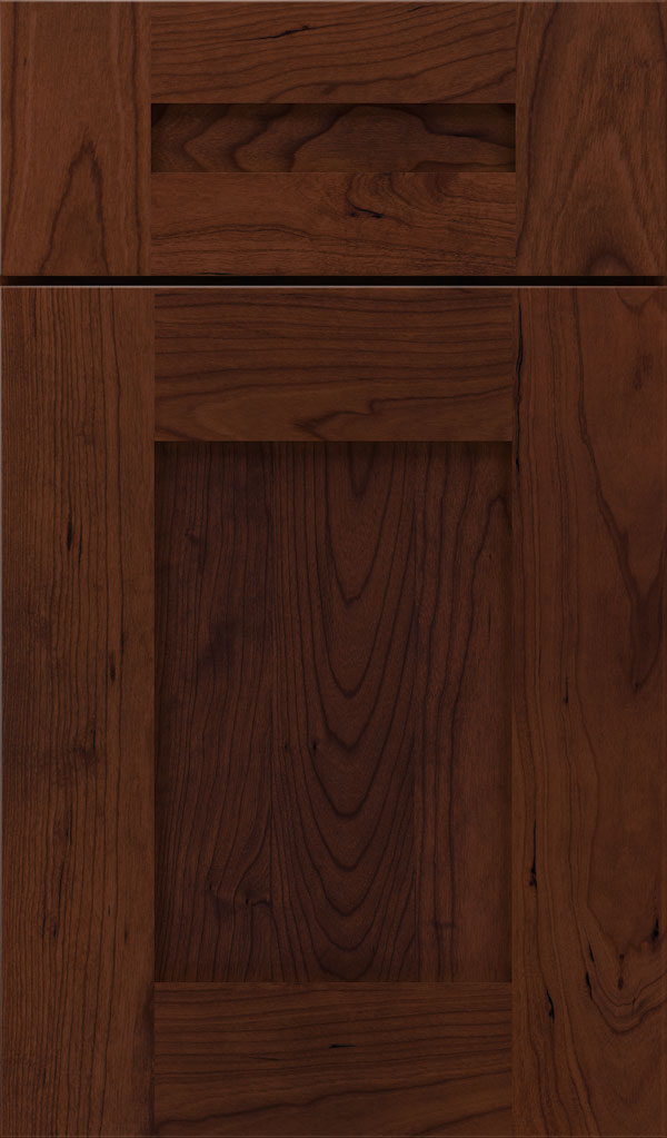 Artisan 5-piece Cherry shaker cabinet door in Sepia