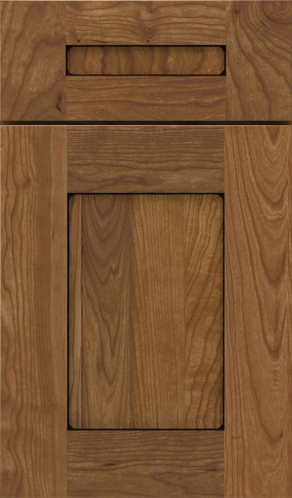Artisan 5-piece Cherry shaker cabinet door in Wheatfield Espresso