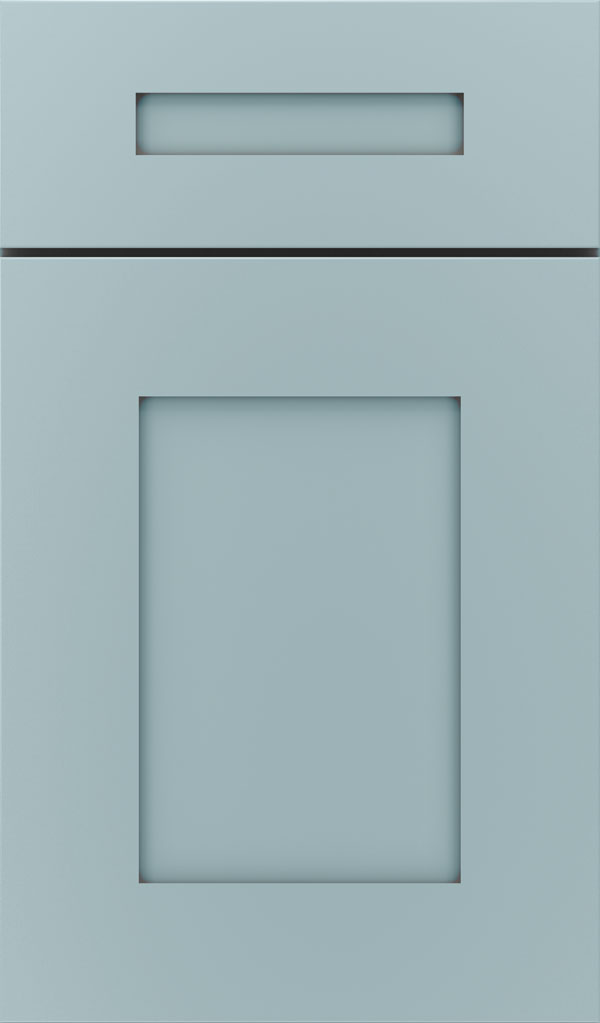 Artisan 5-piece Maple shaker cabinet door in Interesting Aqua