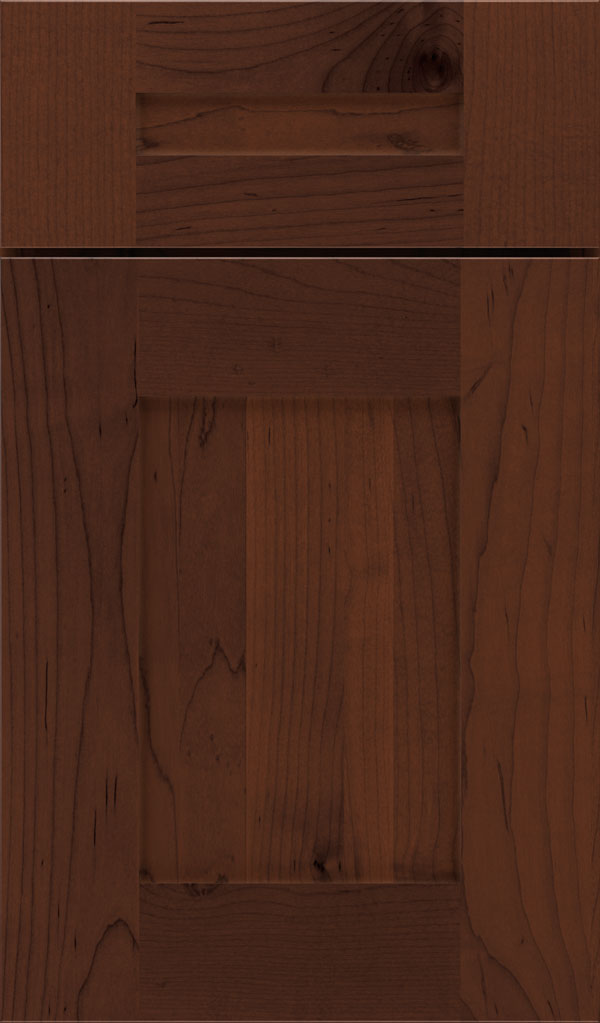 Artisan 5-piece Maple shaker cabinet door in Malbec