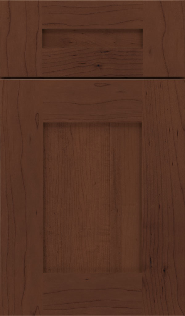 Artisan 5-piece Maple shaker cabinet door in Sepia