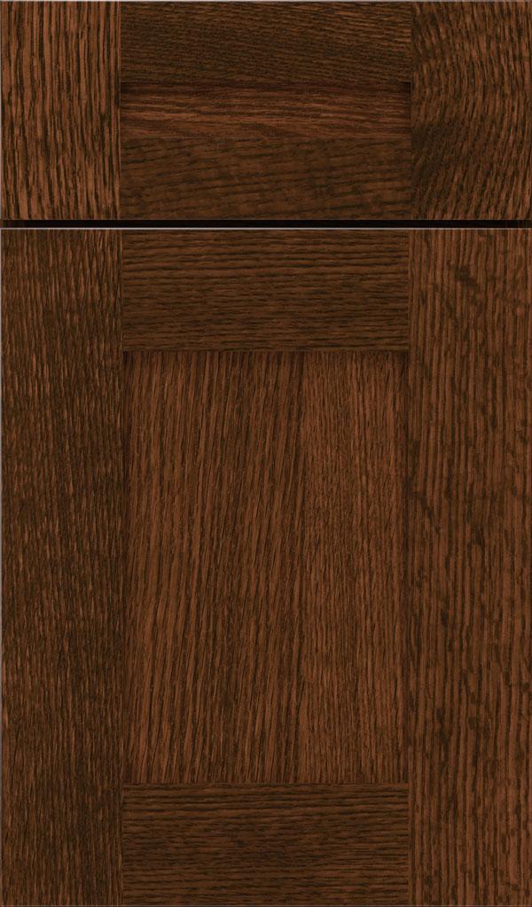 Sepia Cabinet Finish On Quartersawn Oak Decora