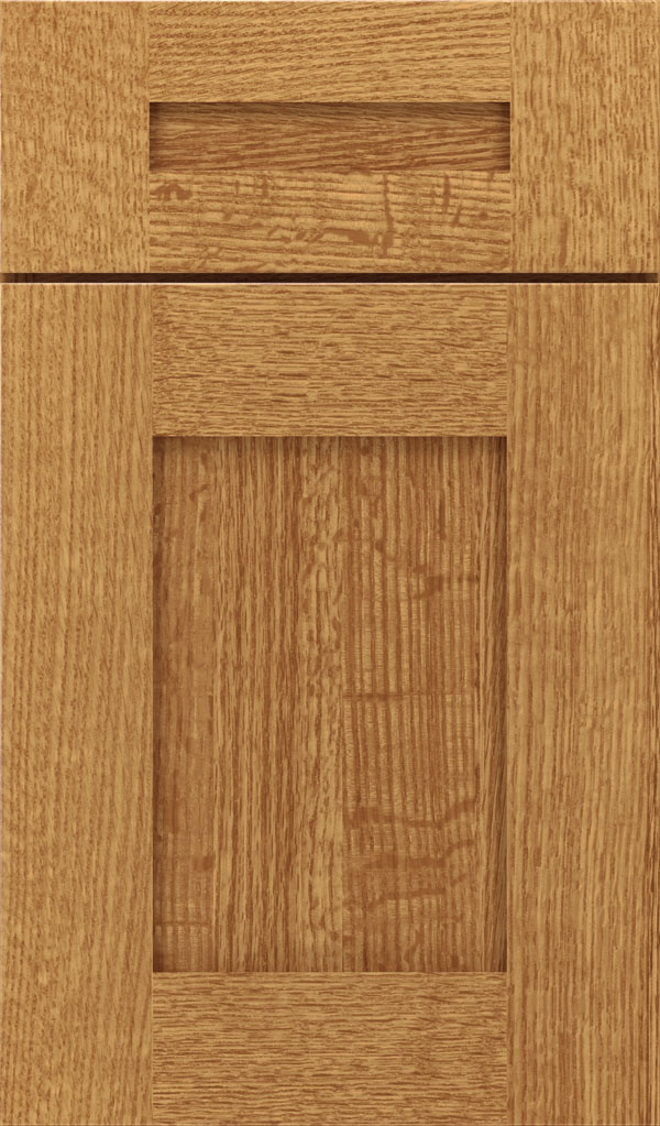 Artisan 5-piece Quartersawn Oak shaker cabinet door in Wheatfield