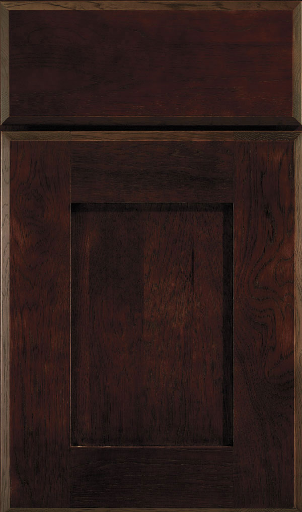 Artisan Hickory Shaker Cabinet Door in Teaberry