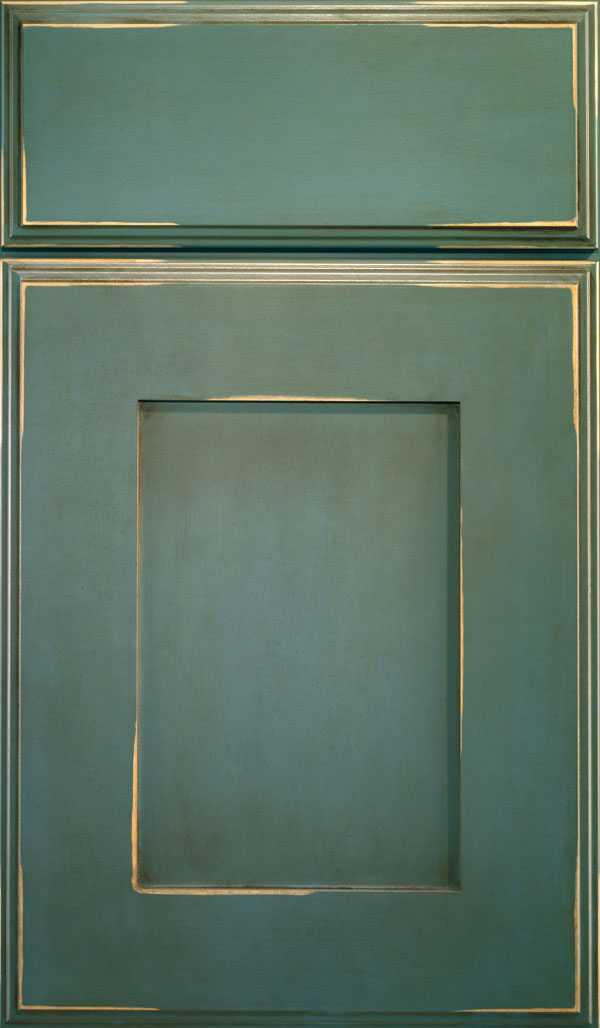 Artisan Maple Shaker Cabinet Door in Turquoise Rust