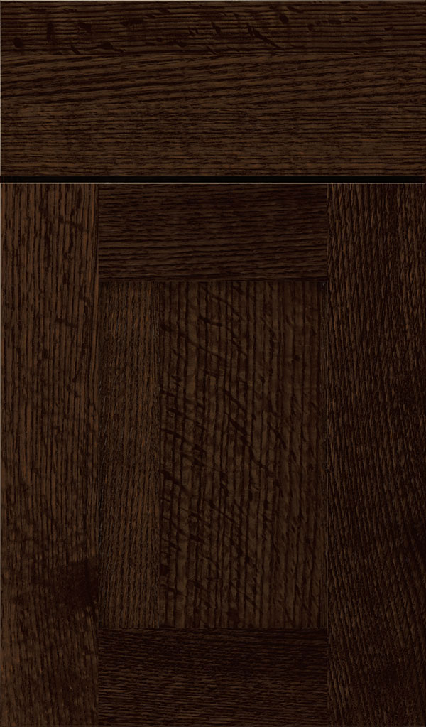 Artisan Quartersawn Oak Shaker Cabinet Door in Bombay