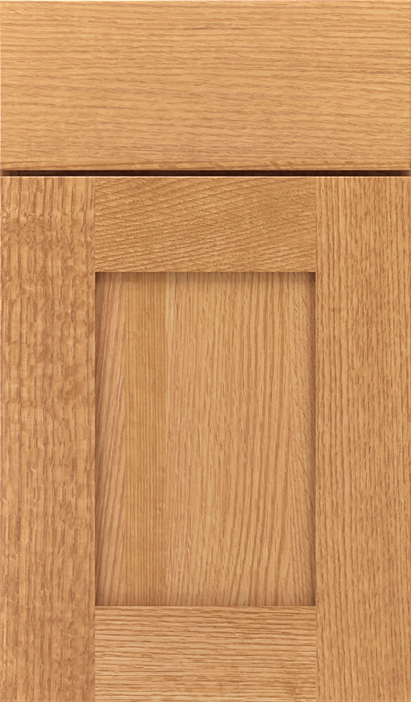 Artisan Quartersawn Oak Shaker Cabinet Door in Natural