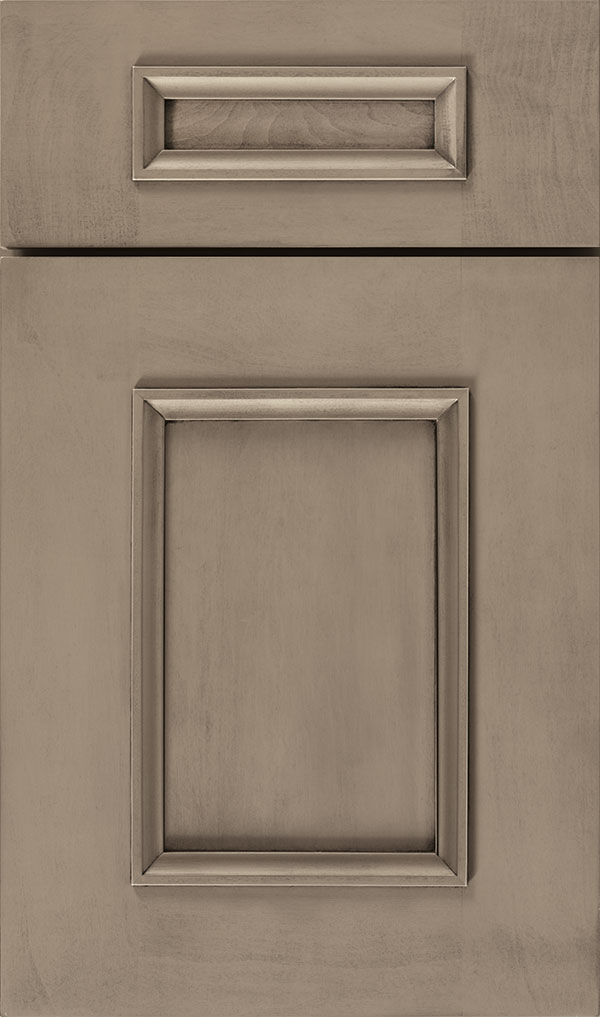 Atwater 5-Piece Maple flat panel cabinet door in Angora