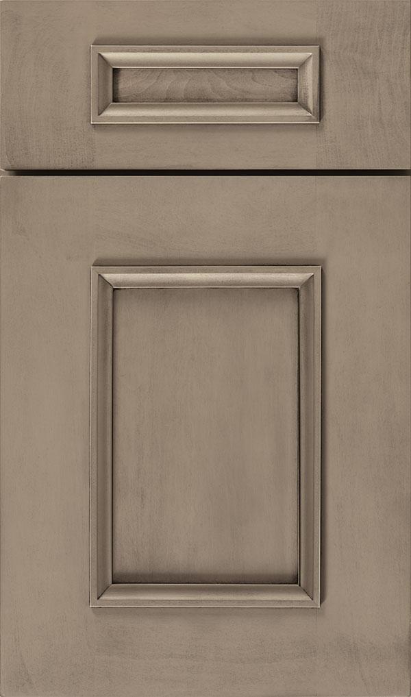 Atwater 5 Piece Maple Flat Panel Cabinet Door In Angora