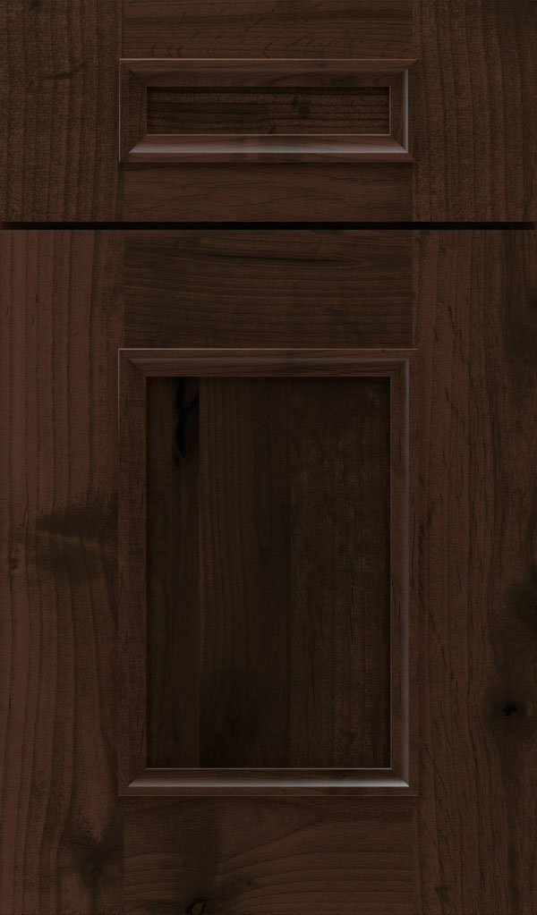 Atwater 5-Piece Rustic Alder flat panel cabinet door in Bombay
