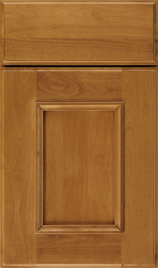 Atwater Alder flat panel cabinet door in Wheatfield