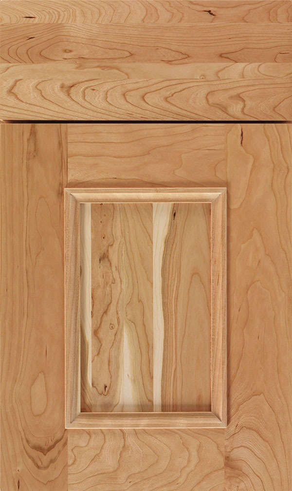 Atwater Cherry flat panel cabinet door in Natural