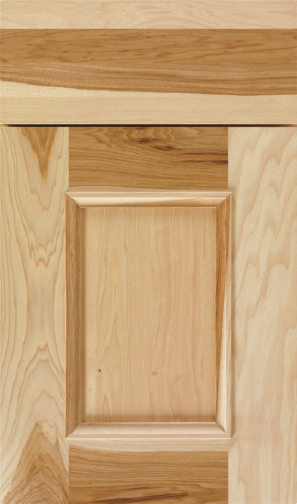 Atwater Hickory flat panel cabinet door in Natural