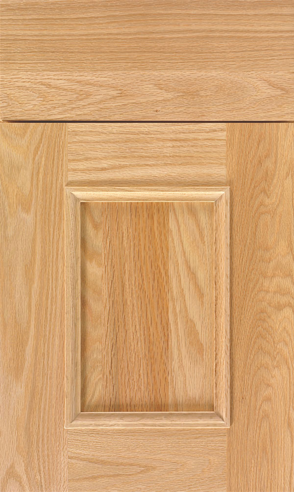 Atwater Oak flat panel cabinet door in Natural
