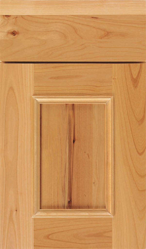 Atwater Rustic Alder flat panel cabinet door in Natural