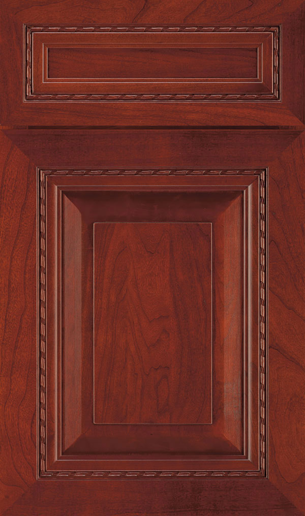 Avignon 5-Piece Cherry Raised Panel Cabinet Door in Arlington