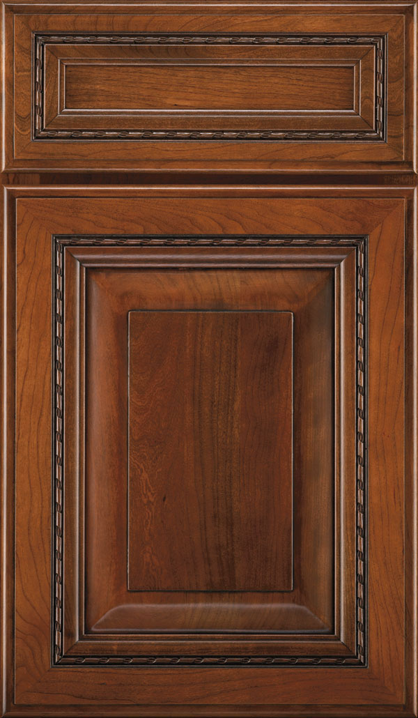Avignon 5-Piece Cherry Raised Panel Cabinet Door in Brandywine Espresso