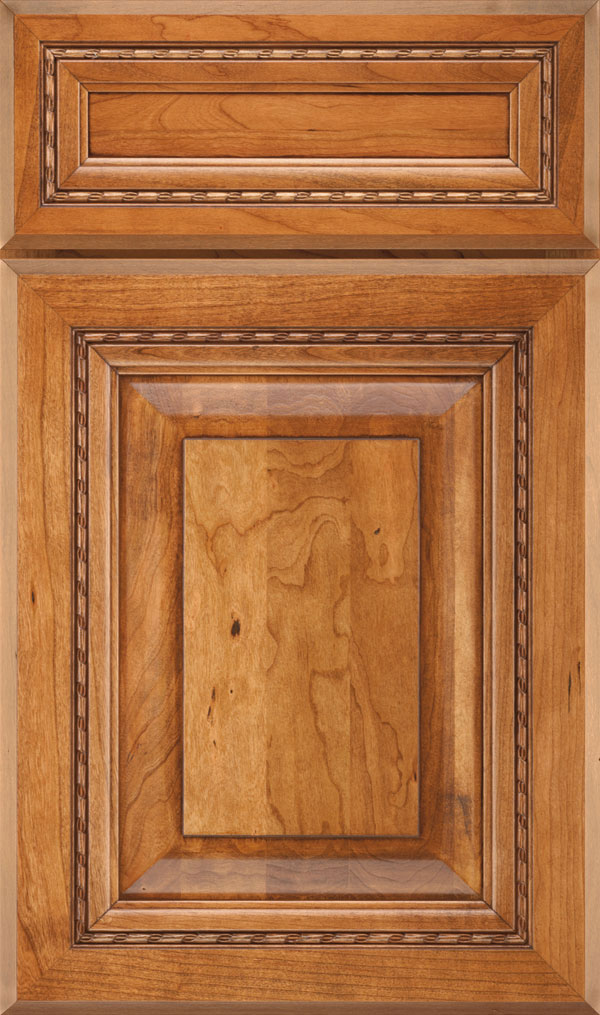 Avignon 5-Piece Cherry Raised Panel Cabinet Door in Natural Coffee