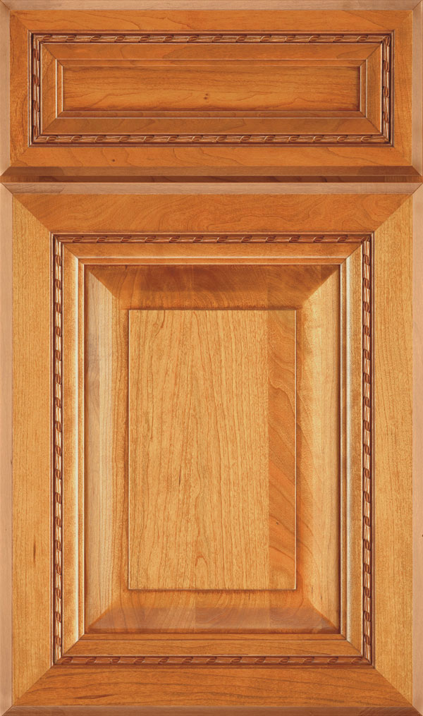Avignon 5-Piece Cherry Raised Panel Cabinet Door in Wheatfield Bronze
