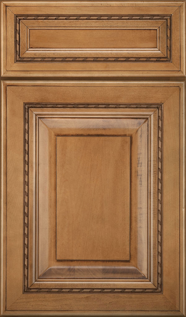 Avignon 5-Piece Maple Raised Panel Cabinet Door in Coriander Coffee
