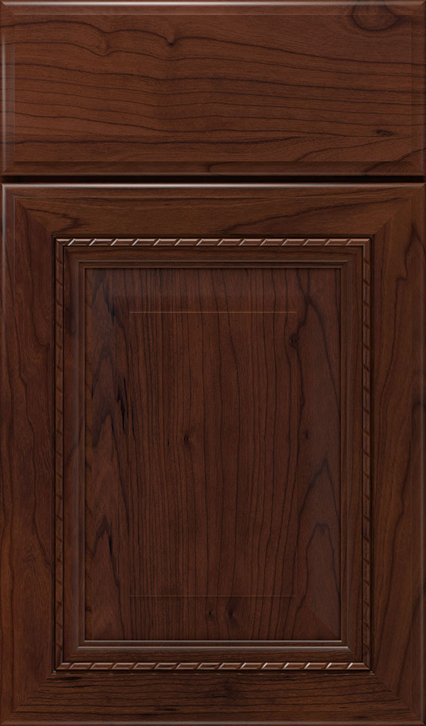 Avignon Cherry Raised Panel Cabinet Door in Sepia