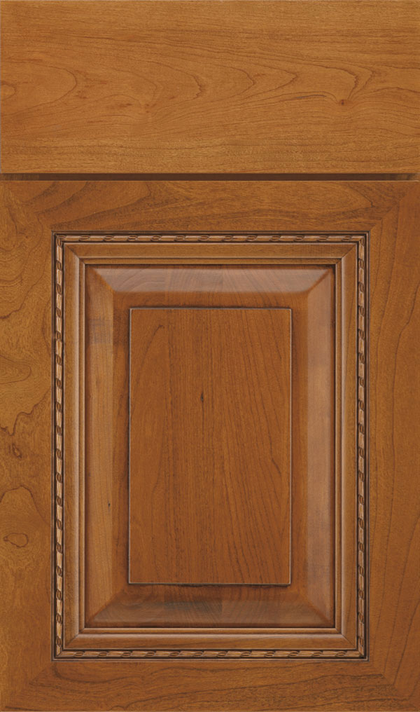 Avignon Cherry Raised Panel Cabinet Door in Sienna Coffee