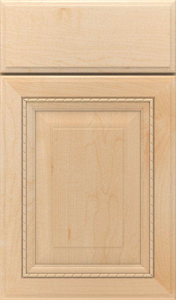 Avignon Maple Raised Panel Cabinet Door in Natural