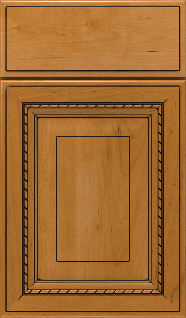 Avignon Maple Raised Panel Cabinet Door in Natural Coffee