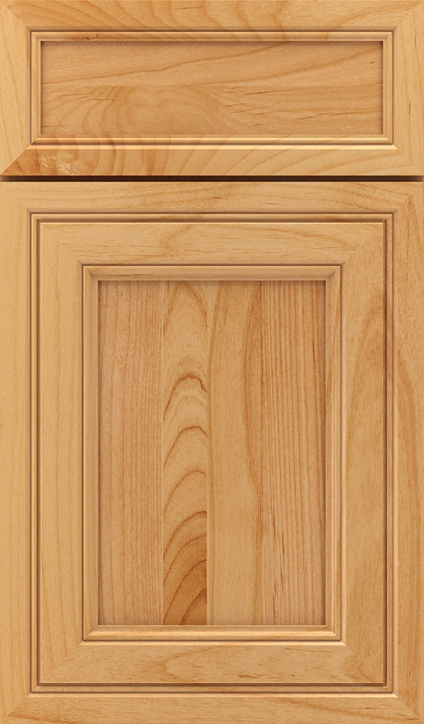 Braydon Manor 5-Piece Alder Flat Panel Cabinet Door in Natural