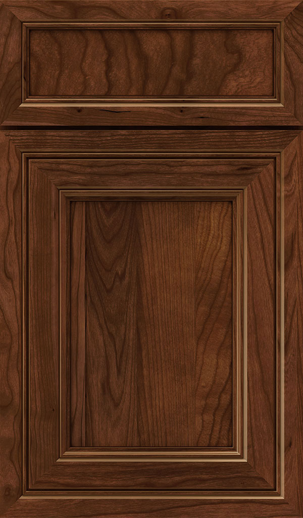Braydon Manor 5-Piece Cherry Flat Panel Cabinet Door in Arlington Espresso