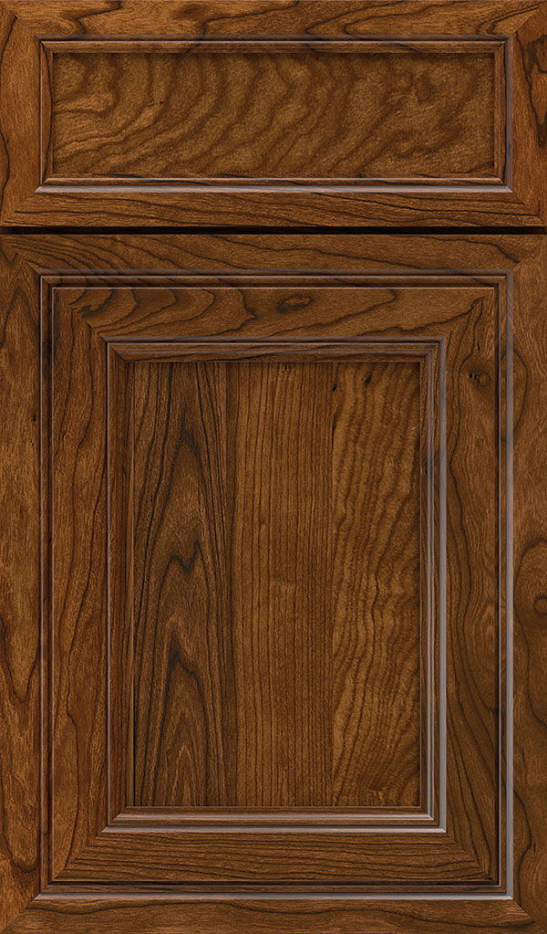 Braydon Manor 5-Piece Cherry Flat Panel Cabinet Door in Brandywine Espresso